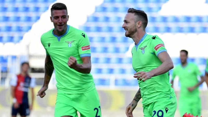 Cagliari-Lazio: strapotere Marusic, 7. Simeone male ovunque: 4,5