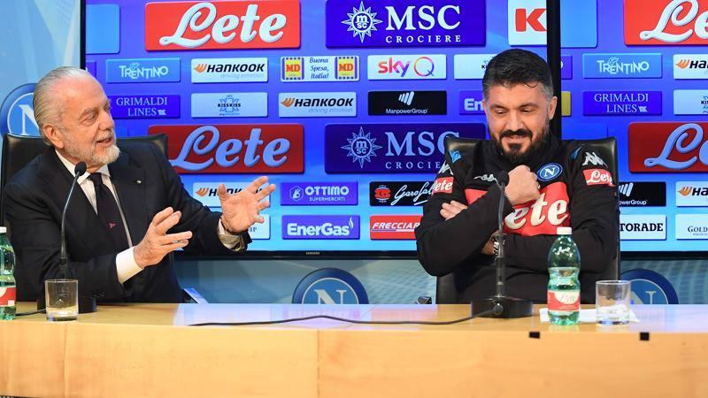 De Laurentiis � furioso: Gattuso si gioca la panchina con Atalanta e Juve