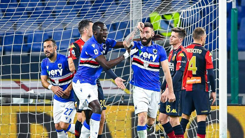 Genoa-Sampdoria,<br /> le pagelle: Zappacosta,<br /> che qualit�,<br /> 7. Colley � un muro,<br /> 6,<br />5