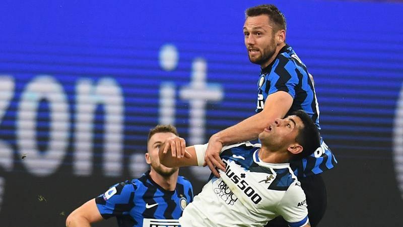 Inter-Atalanta,<br /> le pagelle: De Vrij leader vero,<br /> 6,<br />5. Djimsiti (7,<br />5) e Romero (7) super
