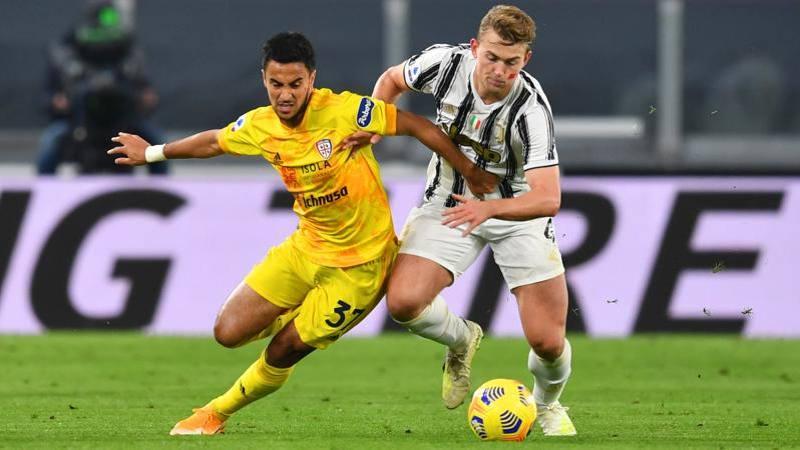 Juve-Cagliari, le pagelle: De Ligt, � un ritorno da 7. Simeone triste e solitario: 5