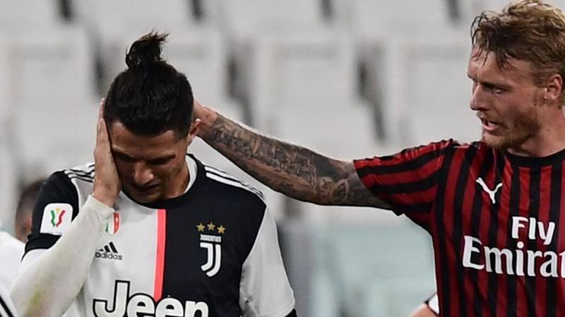 Juve-Milan,<br /> le pagelle: Bentancur mezzala da 6,<br />5. Rebic,<br /> che combini? � 4. E Cristiano...