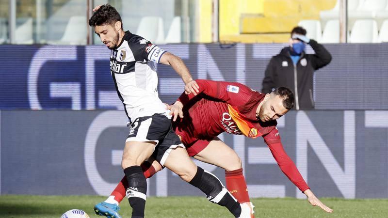Le pagelle di Parma-Roma: Brugman da incorniciare: 7,<br />5. Carles Perez,<br /> che scossa: 6,<br />5