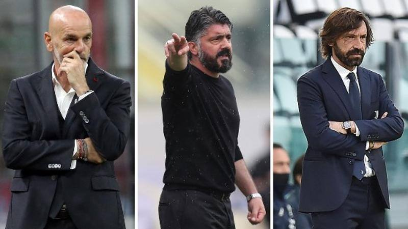 Milan-Napoli-Juve,<br /> Champions in 90'. Ma Pirlo dipende dalle altre