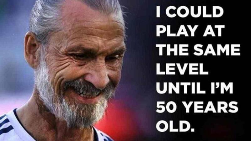 Posso giocare cos� fino a 50 anni': Ibra invecchia ma � sempre lo stesso