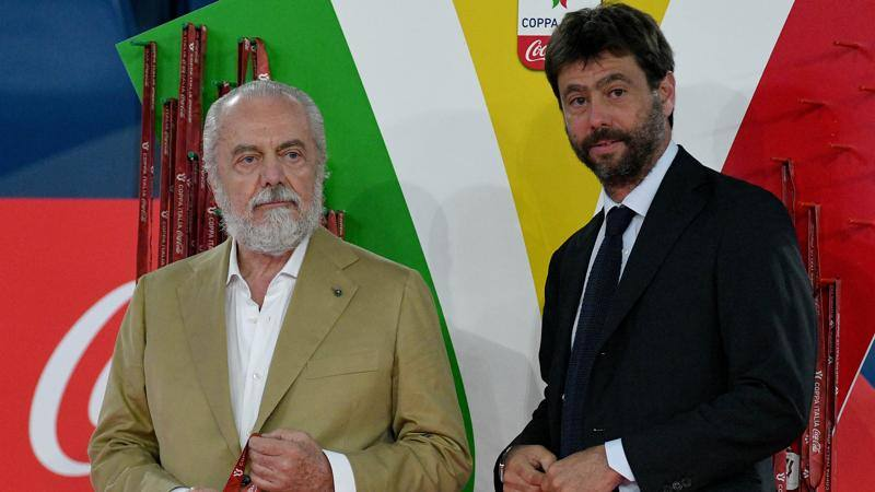 Riunione di Lega, primo faccia a faccia Agnelli-De Laurentiis dopo Juve-Napoli