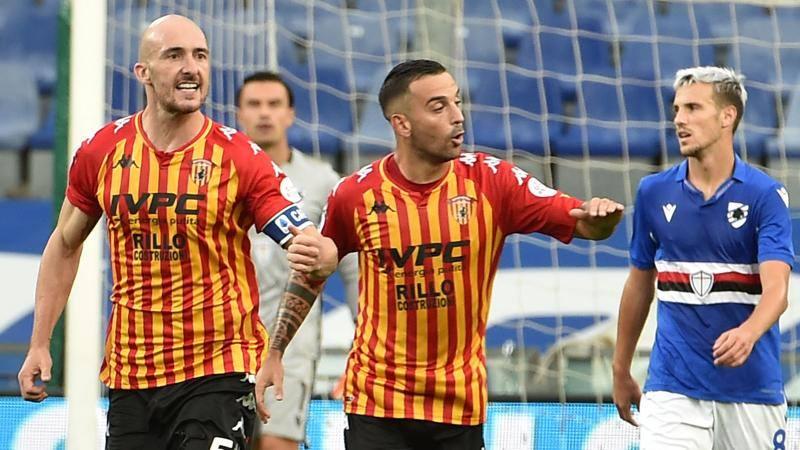 Samp-Benevento: Caldirola oltre la doppietta, 7. Ekdal poco fluido: 5,5