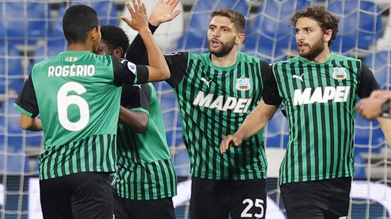 Sassuolo-Sampdoria,<br /> le pagelle: Berardi dice 14 e prende 7,<br />5. Damsgaard inutile: 5