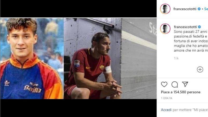Totti,<br /> ricordi di un esordio: Un amore che non avr� mai fine