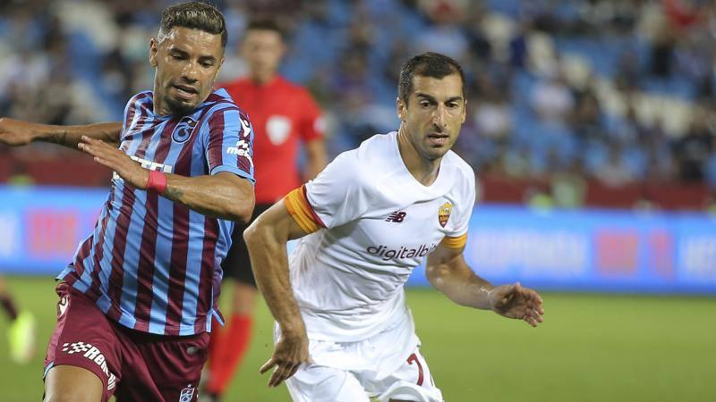 Trabzonspor-Roma,<br /> le pagelle: Ibanez e Mkhitaryan da 7,<br /> Mancini sottotono,<br /> 5,<br />5