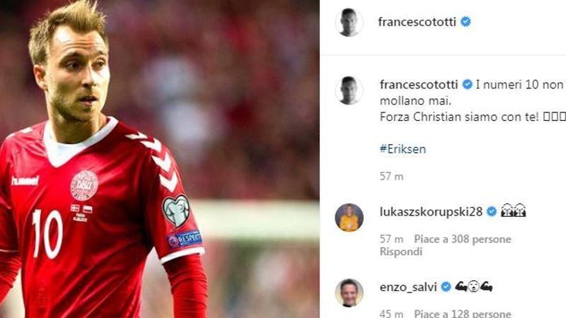 Il mondo del calcio tra preghiere e sollievo,<br /> Totti: I numeri 10 non mollano mai!
