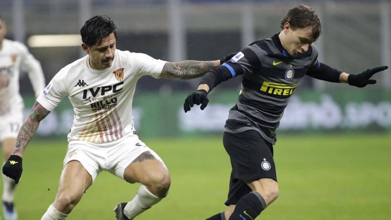 Inter-Benevento,<br /> le pagelle: Barella ad alti ritmi,<br /> 7. Improta non tiene mai Hakimi: 4,<br />5
