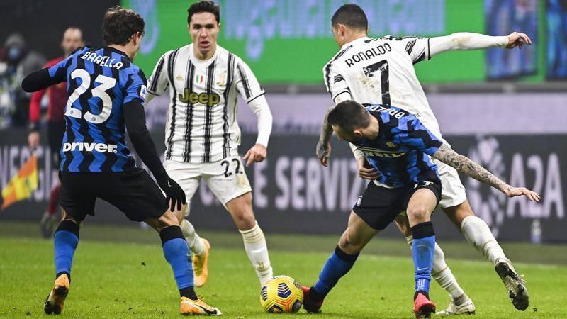 Inter-Juve,<br /> le pagelle: Barella spettacolare,<br /> 8. Ronaldo dov'�? 5