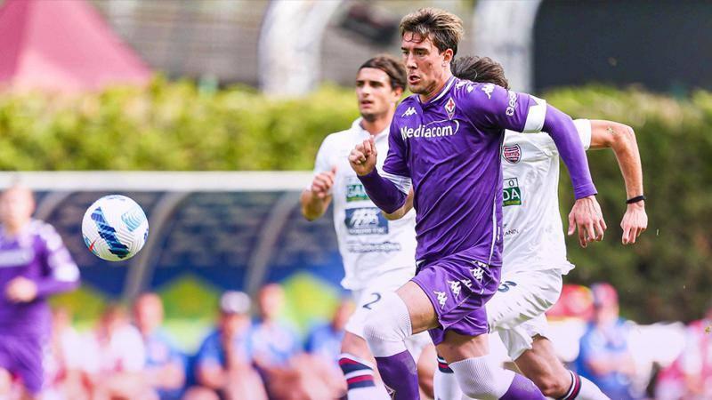 Si chiude il ritiro Fiorentina-Virtus Verona 4-0 Tanti gol e lavori in corsoLa Fiorentina fa quattro su quattro a Moena, e chiude con unaltra vittoria il ritiro in Val di Fassa Dopo i 27 gol messi a segno tra Ostermunchen,e