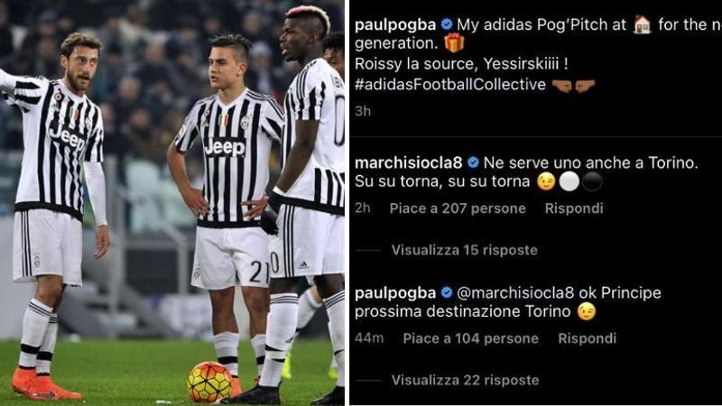 Marchisio chiama Pogba a Torino: Su torna