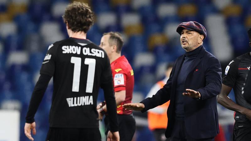 Mihajlovic amaro: Il Bologna ha giocato,<br /> il Napoli ha segnato,<br /> 3-1 bugiardo