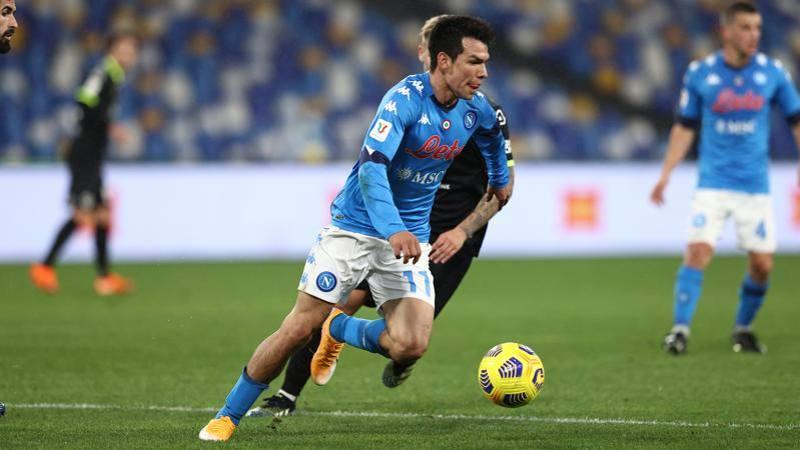 Napoli-Spezia,<br /> le pagelle: Lozano ancora in gol,<br /> 7. Galabinov non corre,<br /> 5