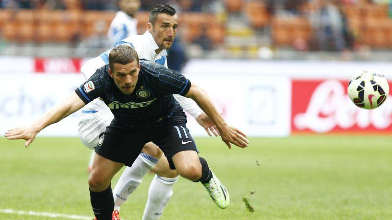 Podolski: 'Stile e tanti big, l?Inter � tra le favorite per la Coppa'