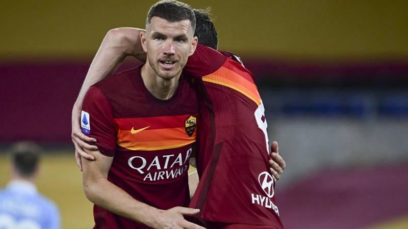 Roma-Lazio,<br /> le pagelle: Dzeko da 7 anche senza gol. Pereira entra e fa danni: 4,<br />5