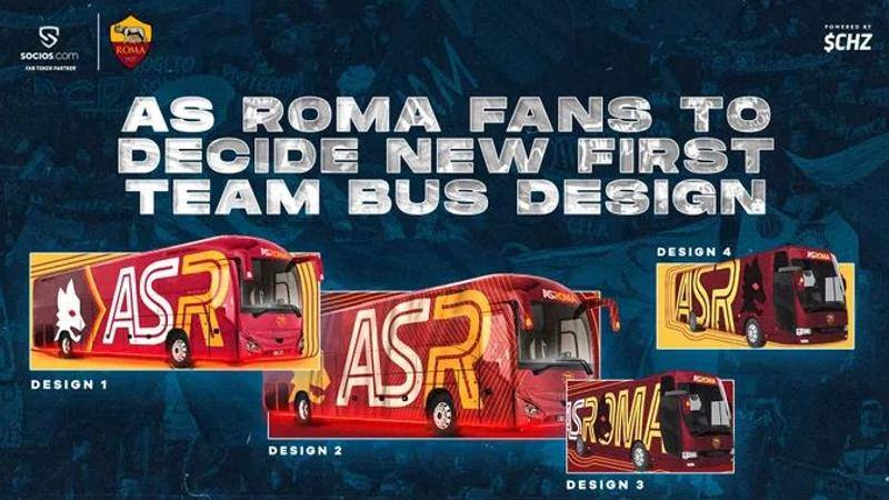 Roma,<br /> in arrivo il nuovo pullman: il design lo scelgono i tifosi