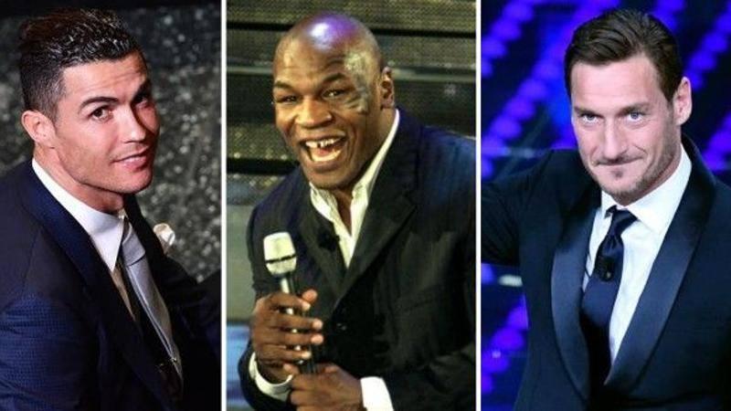 Rossi, Tyson, Totti e Ronaldo: quanti campioni a Sanremo prima di Ibra